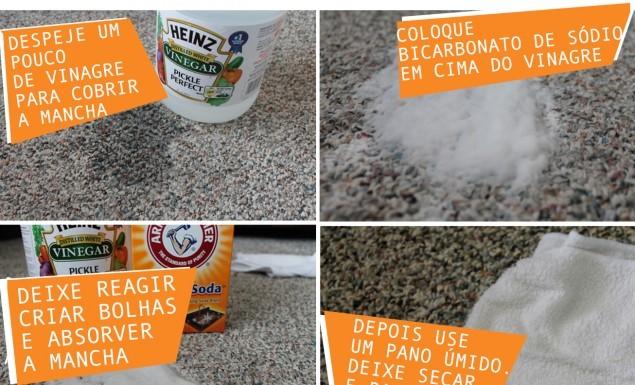 como limpar manchas do carpete