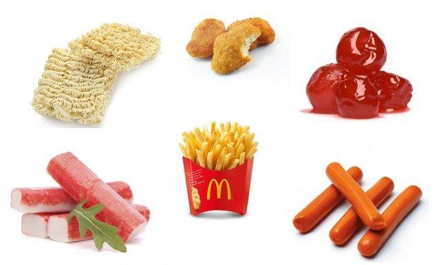 alimentos gostoso e nojentos