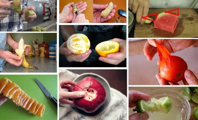 como descascar frutas