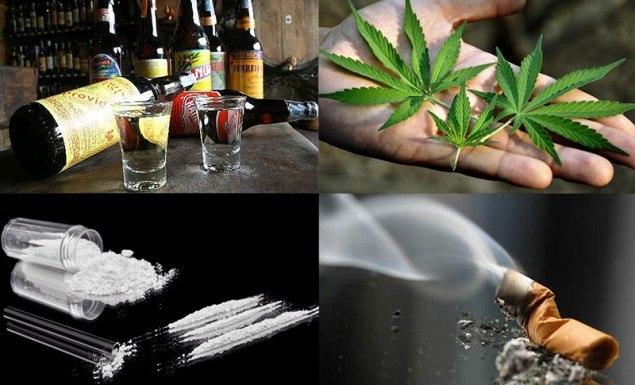 maconha cigarro alcool cocaina