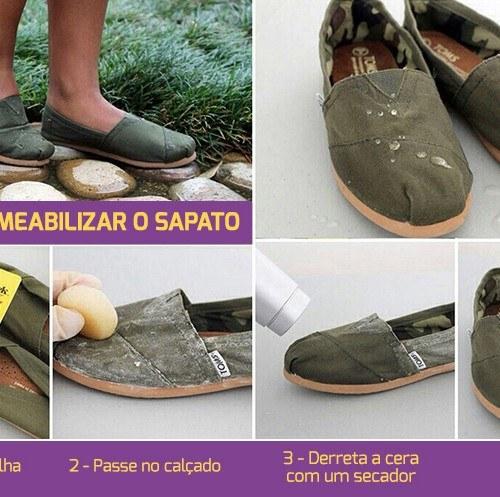 como impermeabilizar o sapato