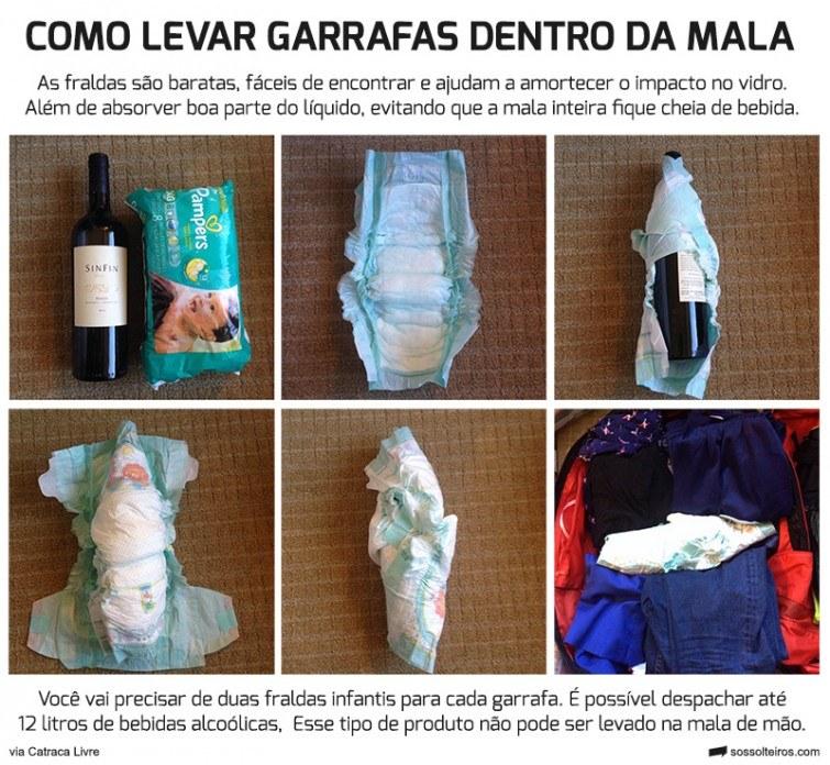 levar garrafas na bagagem mala b886e431b52