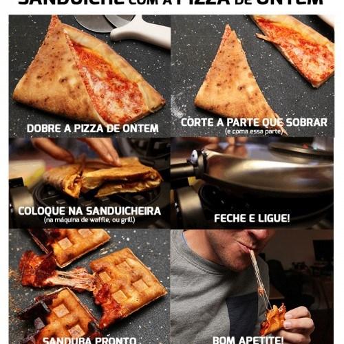sanduiche pizza de ontem