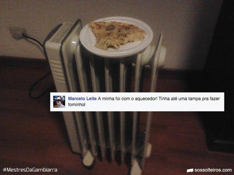 Marcelo Leite gambiarra forno aquecedor