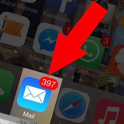 apagar emails iphone