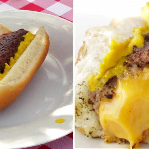 hot dog turbo com queijo