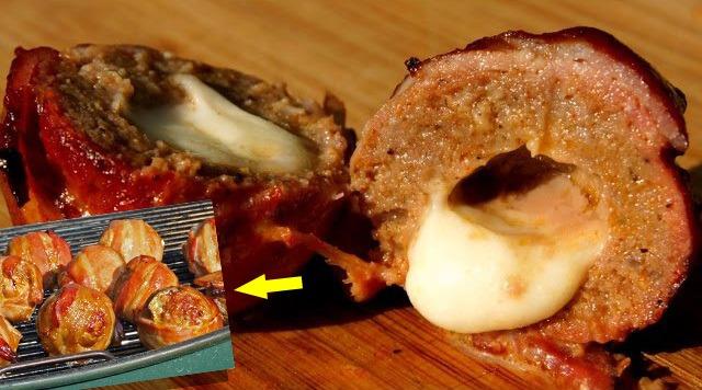 carne com queijo assada