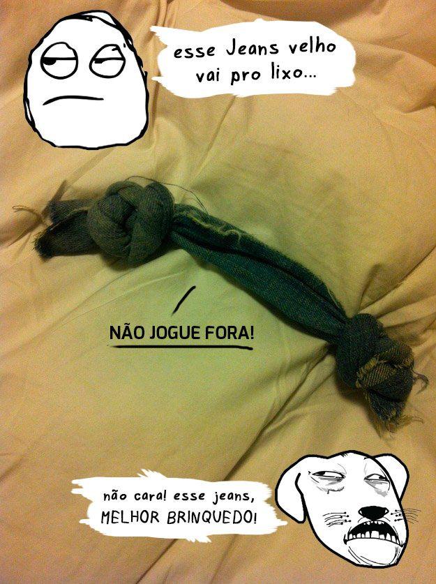 jeans brinquedo cachorro