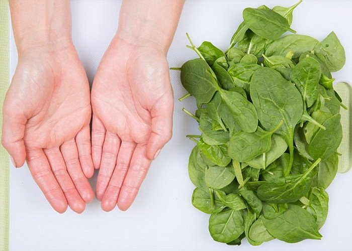 Uncooked Spinach - feature on food portions