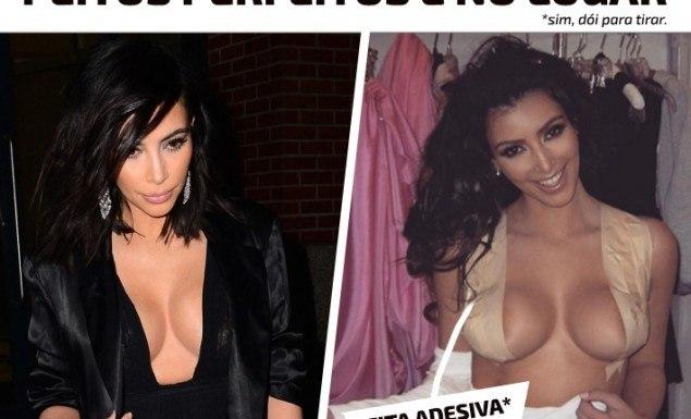 truque decote peito no lugar kardashian