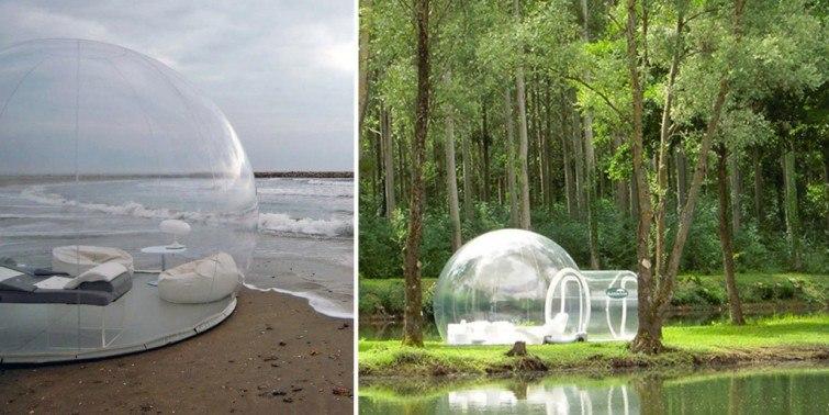 iglu transparente barraca