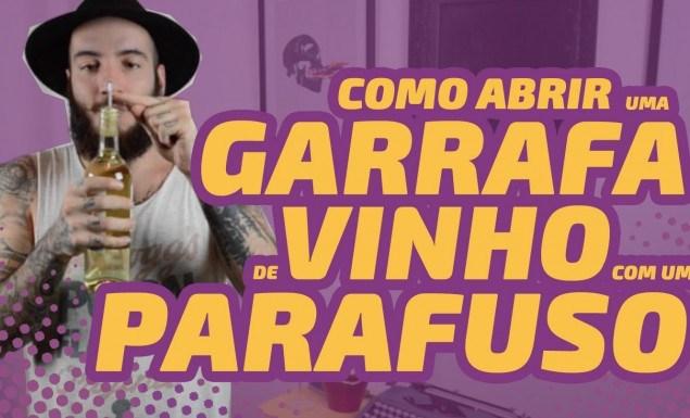 ABRIR GARRAFA DE VINHO PARAFUSO