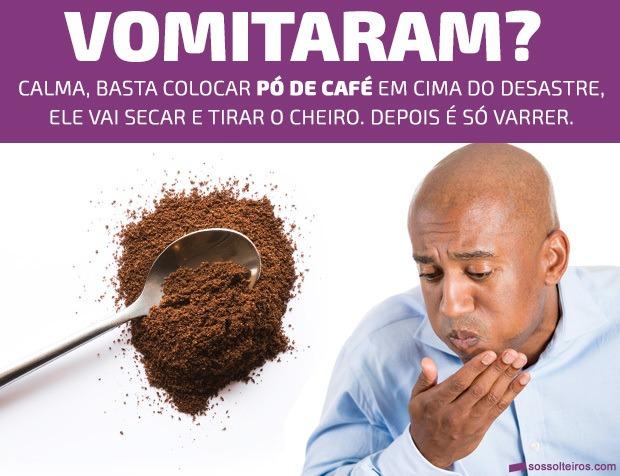 como limpar vomito