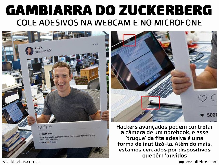 gambiarra zuckerberg fita adesiva