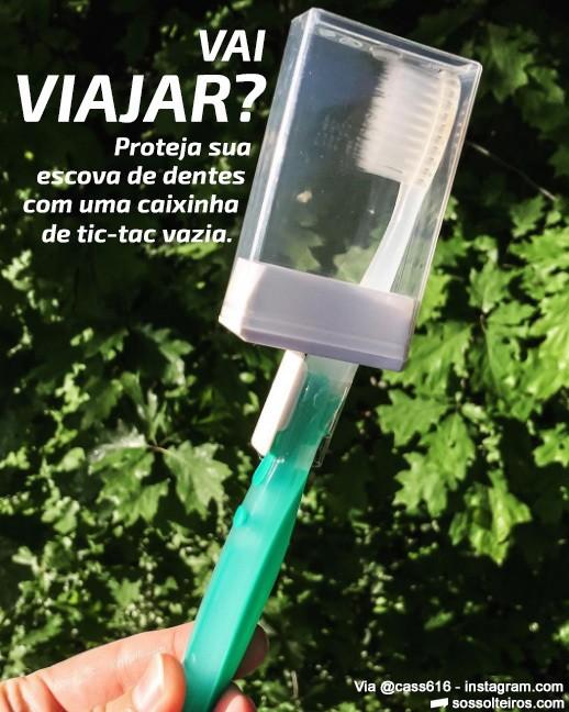proteger escova de dente viagem