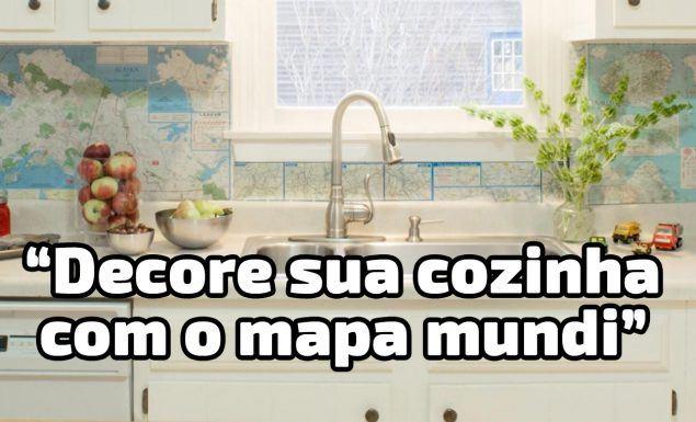 mapa mundi cozinha