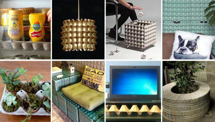 usos para caixas de ovos