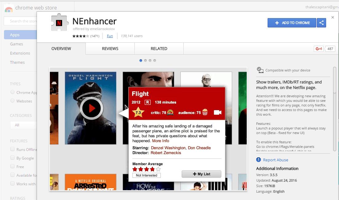 Google Chrome, https://chrome.google.com/webstore/detail/nenhancer/ijanohecbcpdgnpiabdfehfjgcapepbm?hl=en