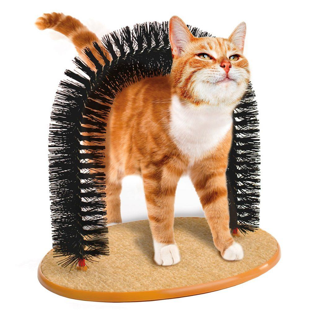 JML, http://www.jmldirect.com/pets/cat-toys/purrfect-arch-cat-self-grooming-and-massaging-toy/