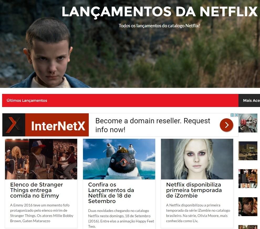 Lançamentos da Netflix, http://www.lancamentosdanetflix.com/