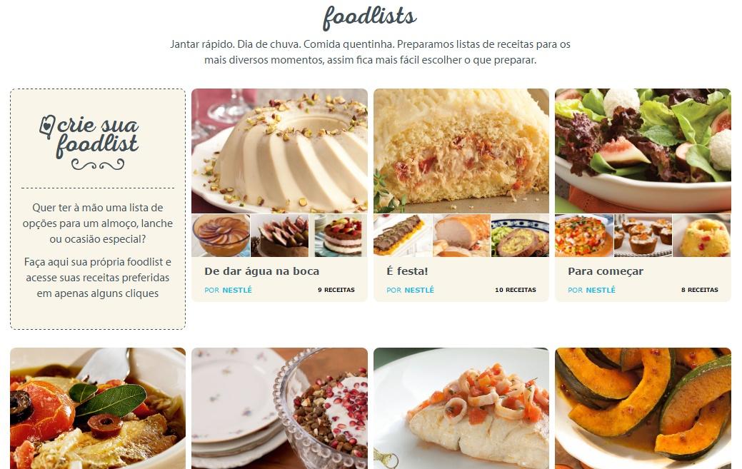 Receitas Nestlé, https://www.receitasnestle.com.br/