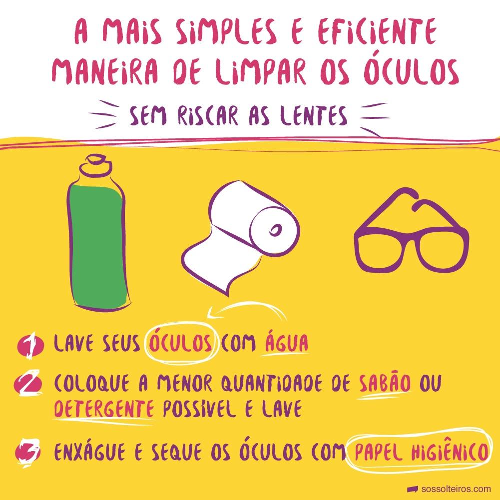 A maneira mais barata e eficiente de limpar os óculos sem riscar 1c7f76542e