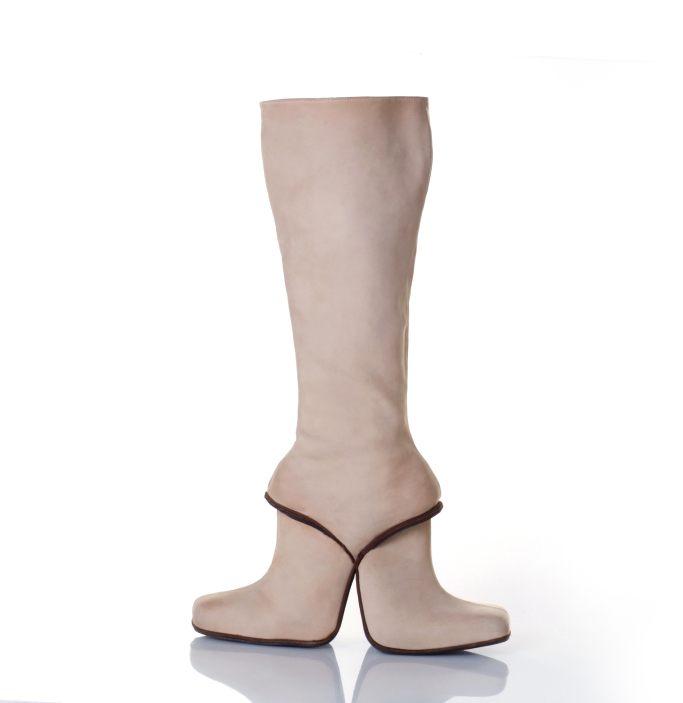 WWD, http://wwd.com/eye/lifestyle/gallery/a-walk-of-art-visionary-shoes-featuring-kobi-levi-sigalit-landau-and-more-10748330/#!4/kobi-levi-double-boots-1998photographer-ilit-azoulay