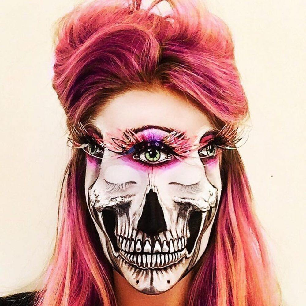 RoyalGram, https://royalgram.co.uk/its-makeupmonday-here-is-a-third-eye-skull-makeup-by-vanessa-davis-aka/