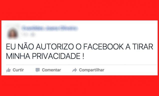 EU NAO AUTORIZO O FACEBOOK TIRAR MINHA PRIVACIDADE