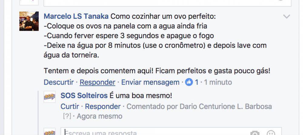Reprodução | Facebook - SOS Solteiros, https://www.facebook.com/sossolteiro/?fref=ts