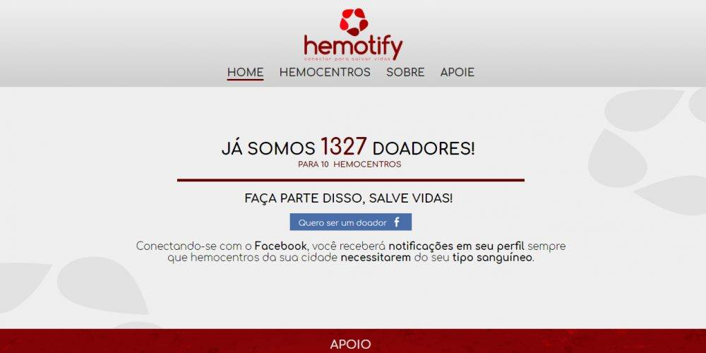 Reprodução   Hemotify, https://hemotify.com/