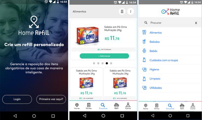 Google Play, https://play.google.com/store/apps/details?id=br.com.homerefill.homerefill&hl=pt_BR