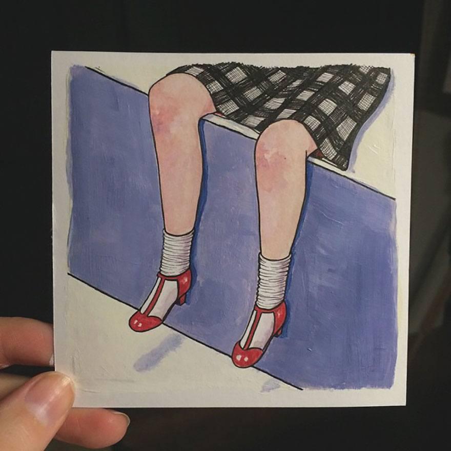 Bored Panda, http://www.boredpanda.com/women-when-nobody-watches-illustrations-sally-nixon/?page_numb=6