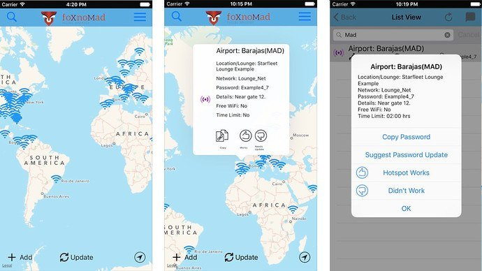 FoxnoMad, https://foxnomad.com/2016/08/18/wifox-app-continuously-updated-map-wireless-passwords-airports-lounges-worldwide/