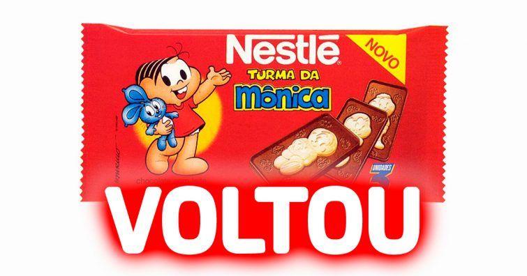 CHOCOLATE TURMA DA MONICA VOLTOU