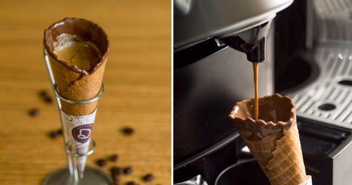 Montagem | Revista Espresso e Jantinha de Hoje, http://revistaespresso.com.br/2017/03/10/cafe-na-casquinha-de-sorvete-ja-experimentou/ e http://jantinhadehoje.com.br/2017/03/20/davvero-lanca-cafe-na-casquinha/