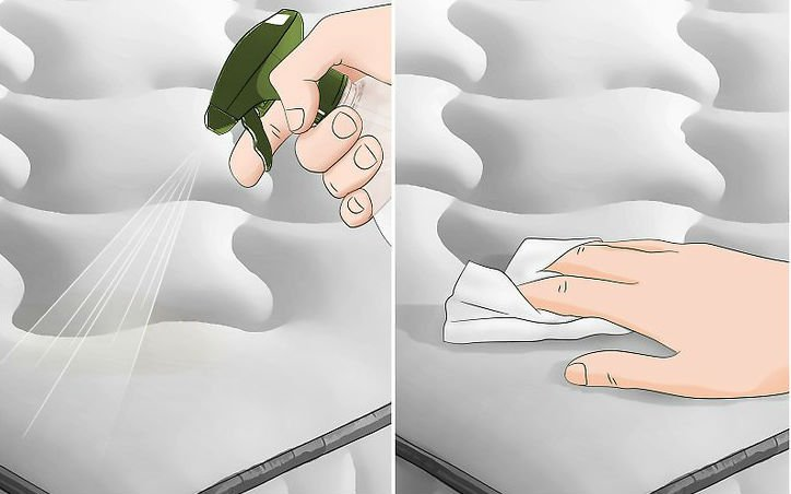 Wikihow, https://www.wikihow.com/Clean-Vomit-from-a-Mattress