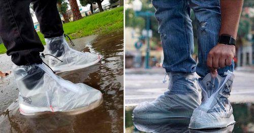 7dd5b05cc20 Criaram uma  capa de chuva para sapatos  com sola antiderrapante