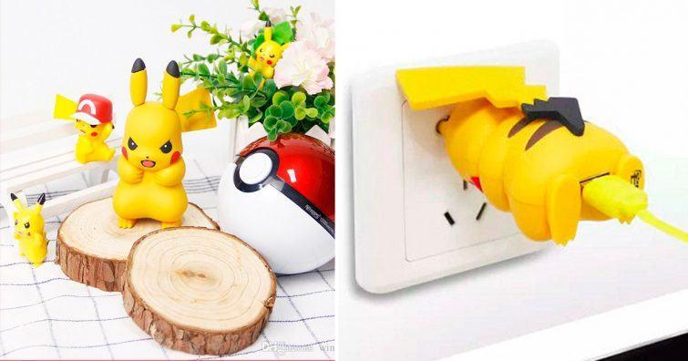 carregador pikachu bunda