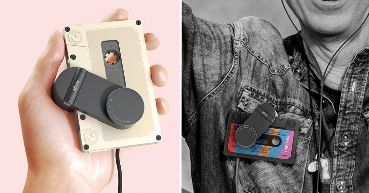 tocador de fita cassete moderno