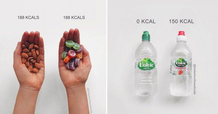 comparativo de produtos fitness comida alimentos