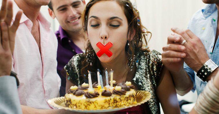 nao assopre a vela no bolo