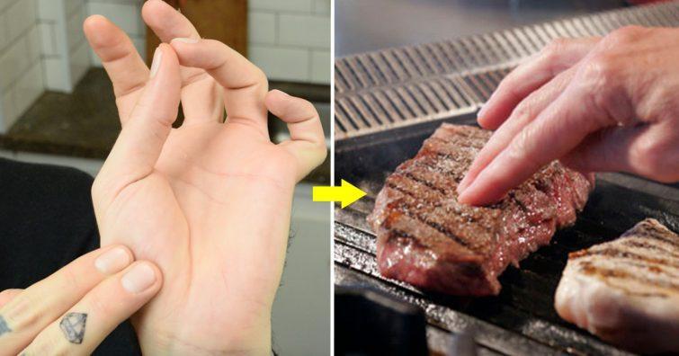 truque para saber o ponto da carne