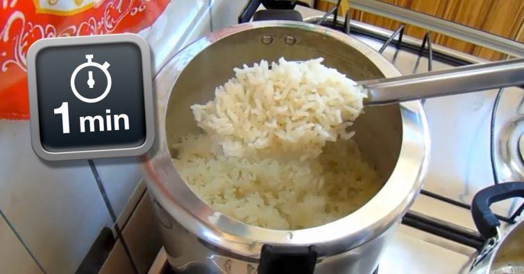 arroz em 1 minuto