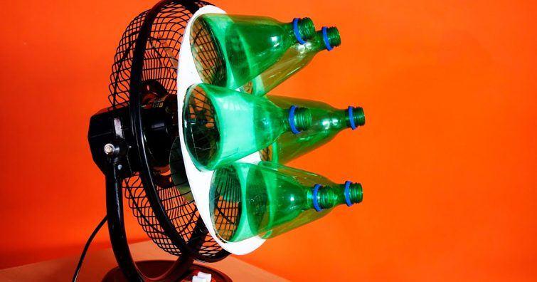 como fazer ar condicionado com um ventilador