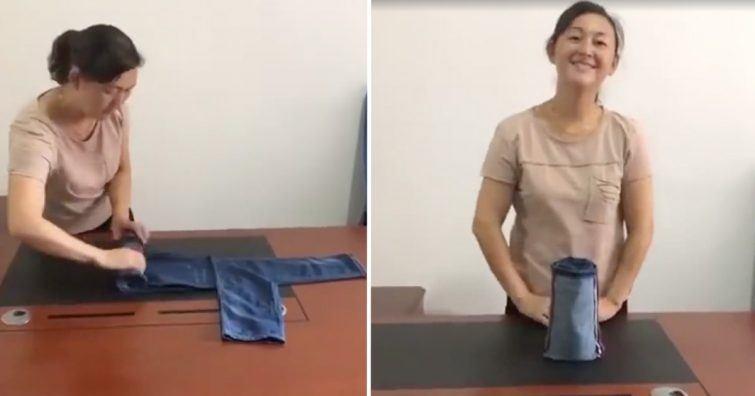 mestre de dobrar roupas e peças