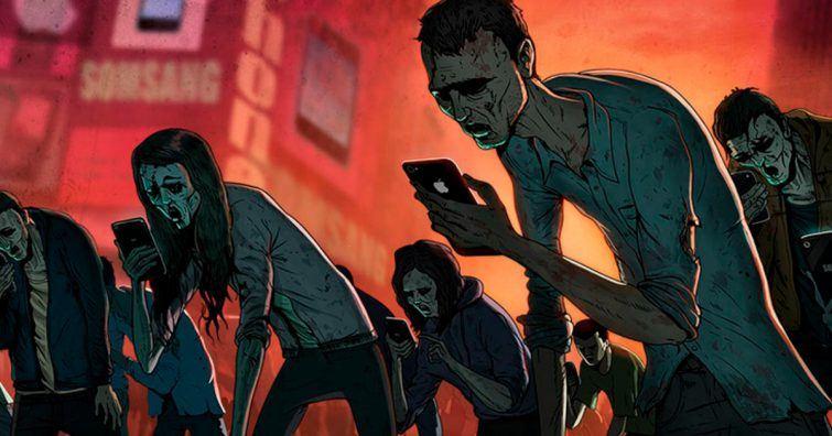 zumbis sequestro mental tecnologia rede social