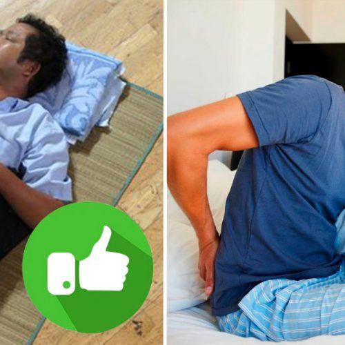 dormir no chao faz bem