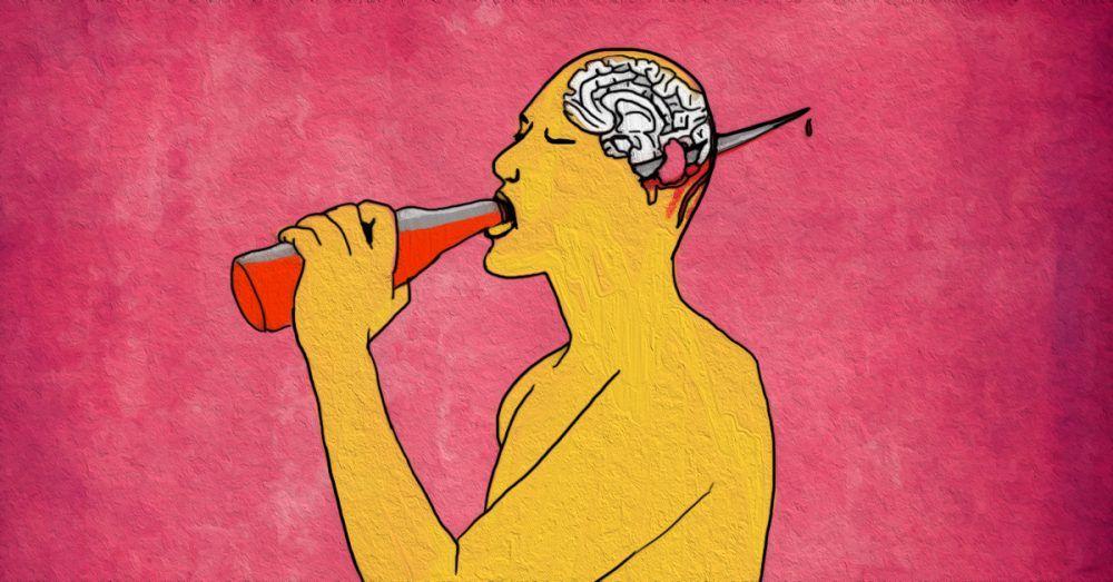 краски картинки алкоголя на мозг выбор