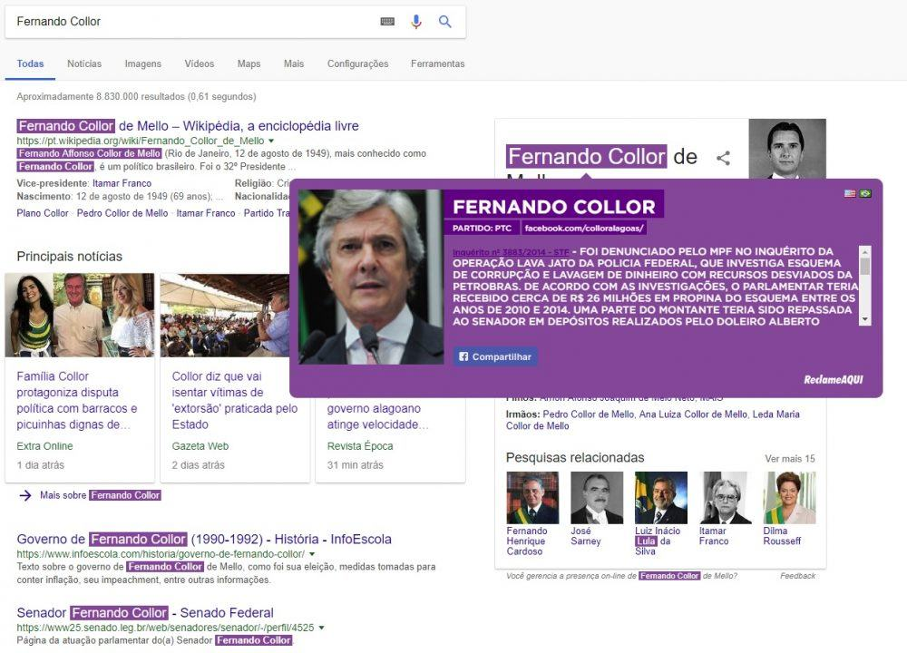 Google Chrome, https://www.google.com.br/search?q=Fernando+Collor&oq=Fernando+Collor&aqs=chrome..69i57&sourceid=chrome&ie=UTF-8
